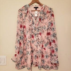 Lane Bryant chiffon ruffle blouse 24